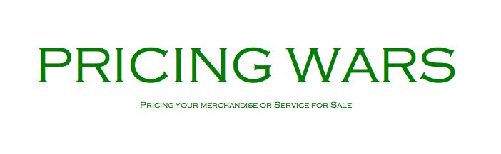 Pricing wars blog