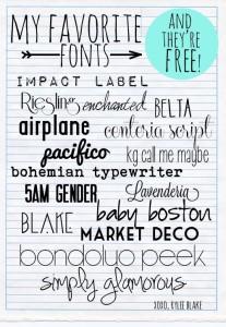 free fonts rylee blake
