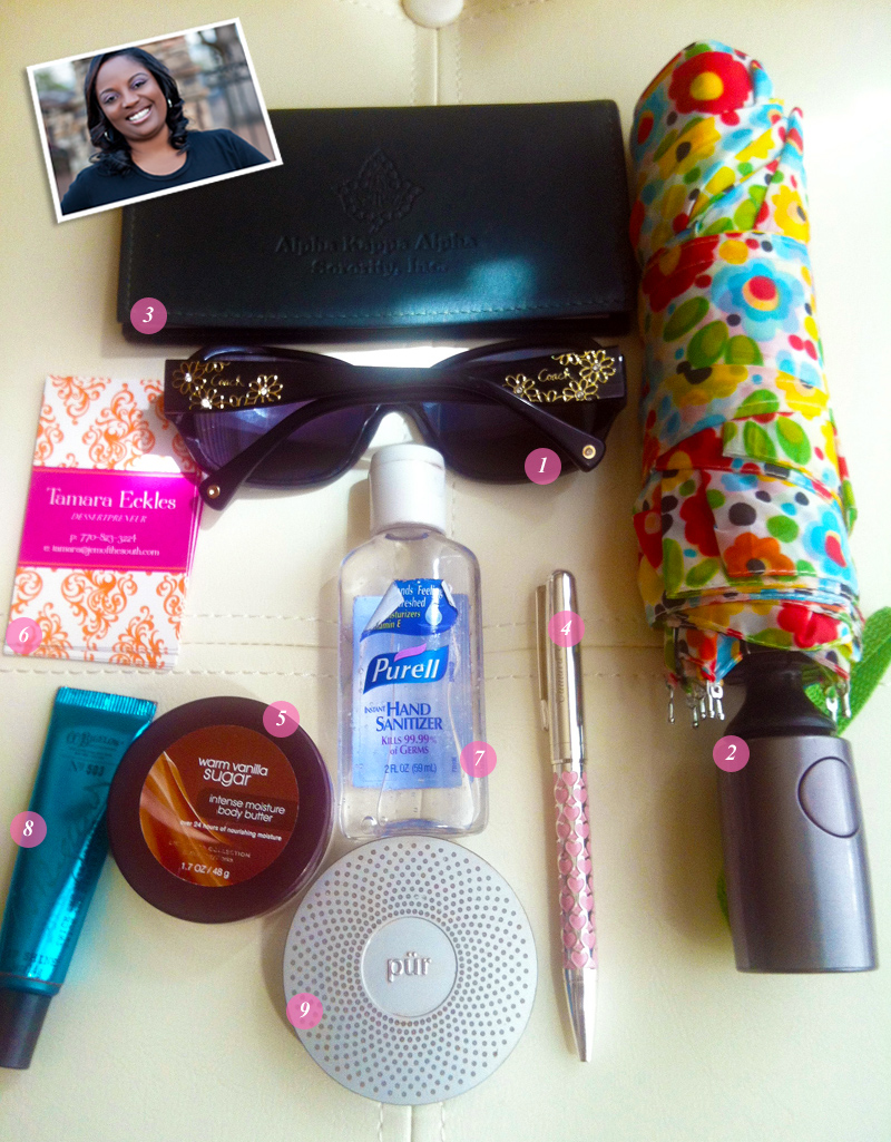 What's In Your Bag Tamara of Jem of The South