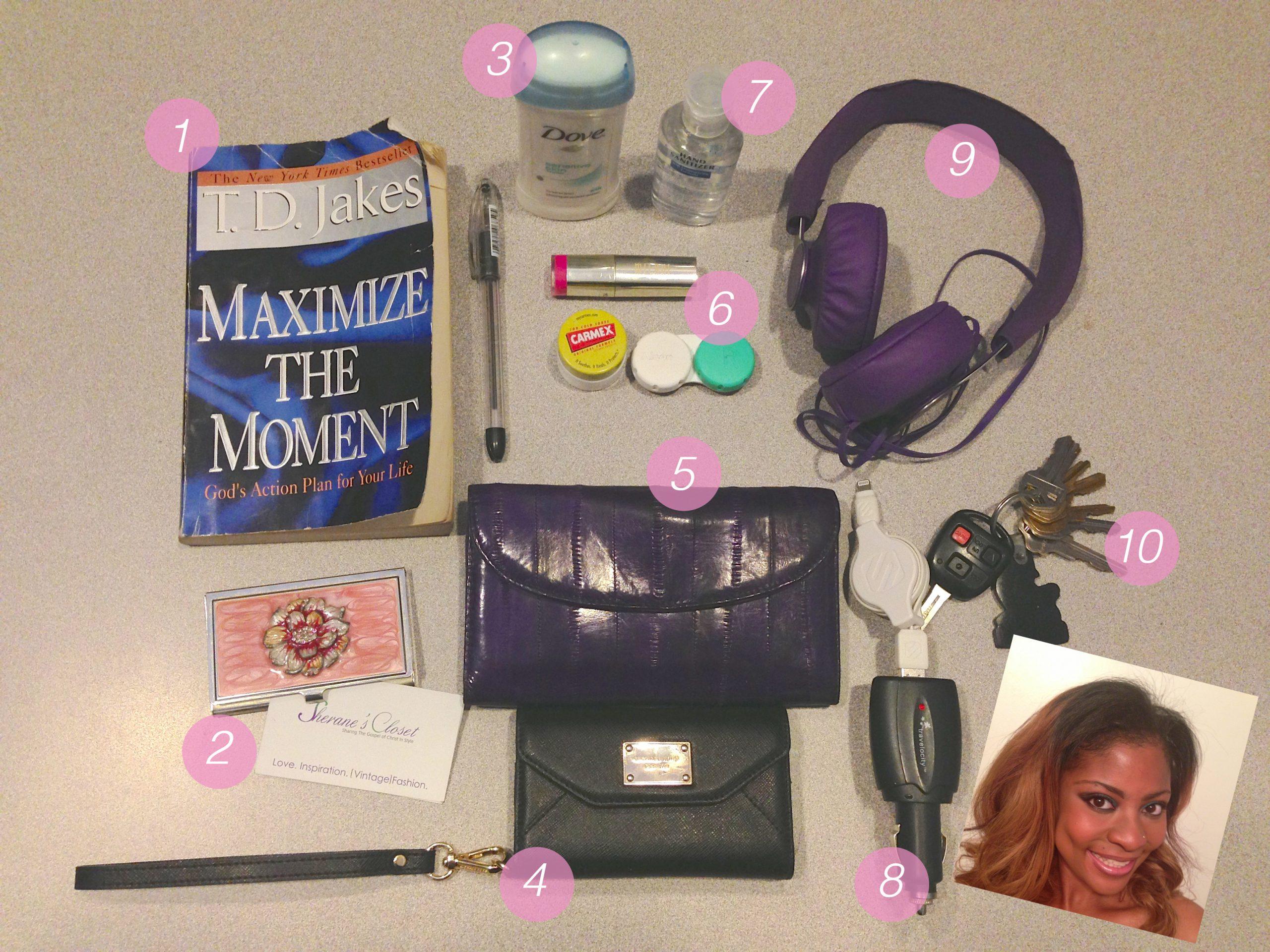 Whats In Your Bag Sherane of Sherane Vintage Closet