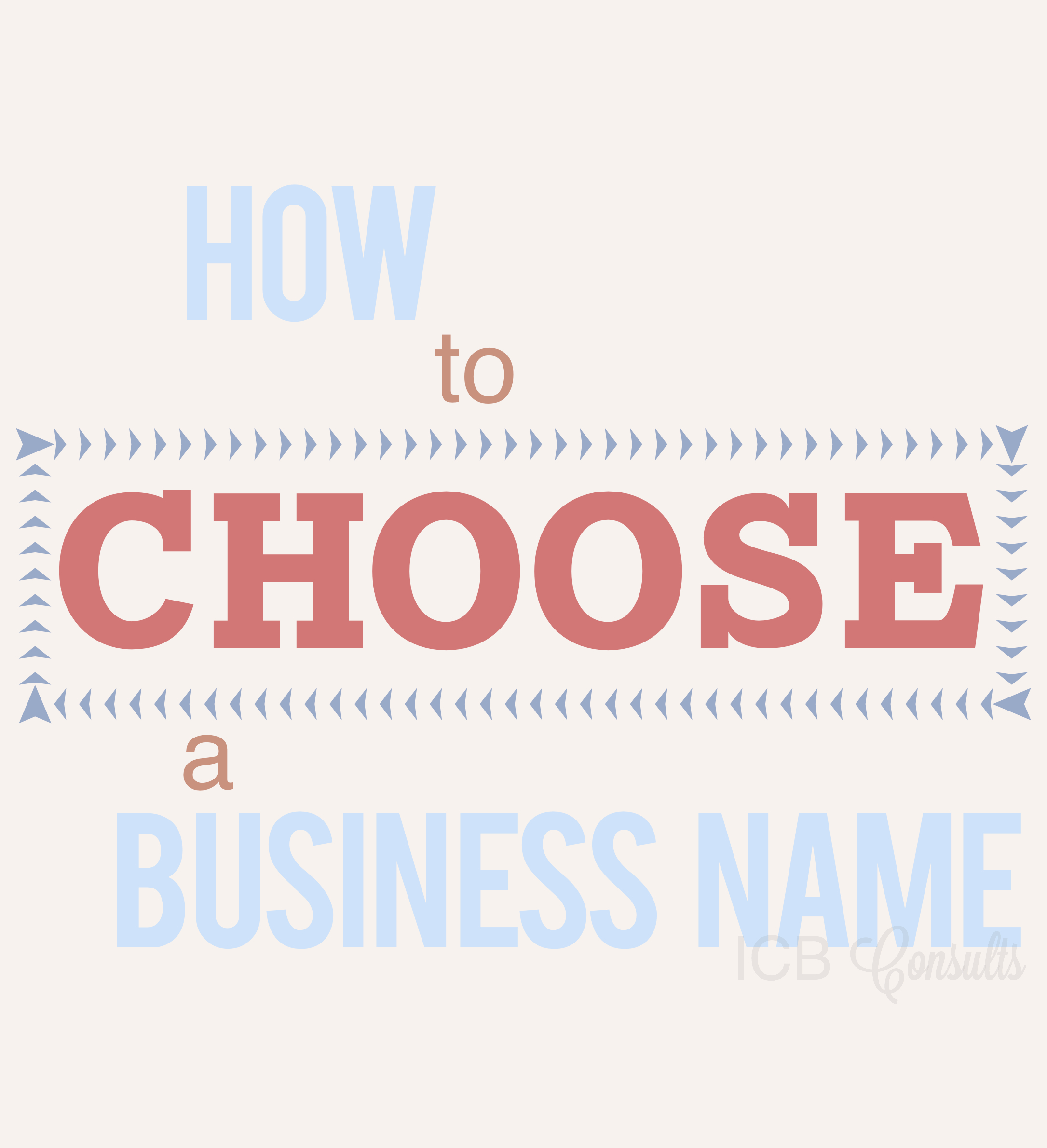 How To Choose A Business Name