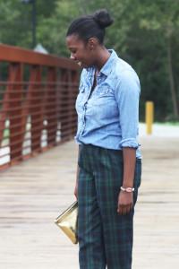Tasha in Gap Shirt + Thrift Pants