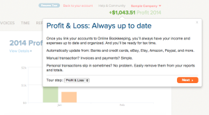 Profit and Loss information on Outright Dashboard