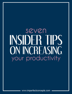 seven insider tips on increasing #imperfectconcepts