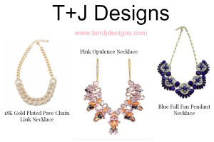 Beautiful necklaces from T+J Designs make great gifts to give.
