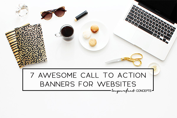 Navigating the right CTA banners for your site during particular months of the year. | Imperfect Concepts #smallbusiness #calltoaction #graphicdesign