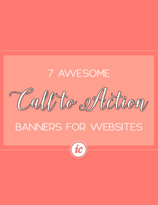Specific call to action banners that small business can use to grow their companies. | Imperfect Concepts #smallbusiness #entrepreneur
