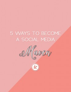 Sharing five tips on how you can become a social media maven for your small business. | Imperfect Concepts #socialmedia #blogging #twitter #instagram #smallbusiness