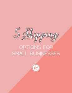 Understanding the different shipping options your small business has. | Imperfect Concepts #smallbusiness #entrepreneur #womeninbusiness #blogging