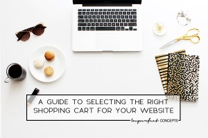 Learn what your future shopping cart needs in order for you to run a successful business.   Imperfect Concepts #shoppingcart #smallbusiness #blogging #ecommerce