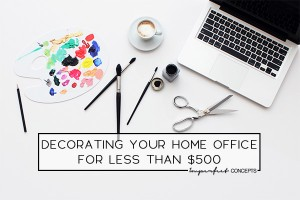 How to create your pinterest dream office for less than $500. | Imperfect Concepts #smallbusiness #homedecor #parsondesk #interior