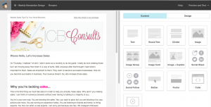 Introduction Mailchimp Template.   Imperfect Concepts #mailchimp #newsletter #smallbusiness