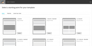Select Template Mailchimp. | Imperfect Concepts #mailchimp #newsletter #smallbusiness