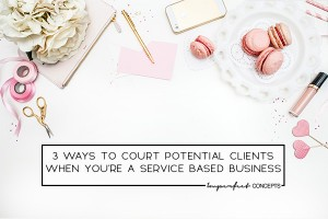Obtaining new clients for your service business is easier than you think. | Imperfect Concepts #blogging #service #business #smallbusiness