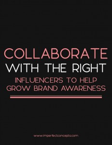 There is an art to collaborating and working with influencers for your business. | Imperfect Concepts #smallbusiness #advice #blogging #influencers