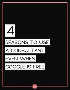 4 Things a consultant can offer you that Google can't. | Imperfect Concepts #smallbusiness #advice #blogging