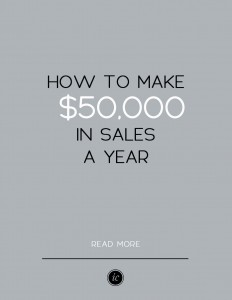 4 Details you need to know if you want to make $50,000 in sales a year with your business. | Imperfect Concepts #smallbusiness #advice #blogging