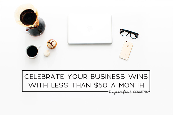 It is important to celebrate your small wins to keep you going. | Imperfect Concepts #smallbusiness #blogging #businessadvice
