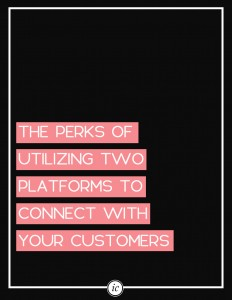 Using two different website platforms will help you bring in new customers.   Imperfect Concepts #blogging #smallbusiness #advice