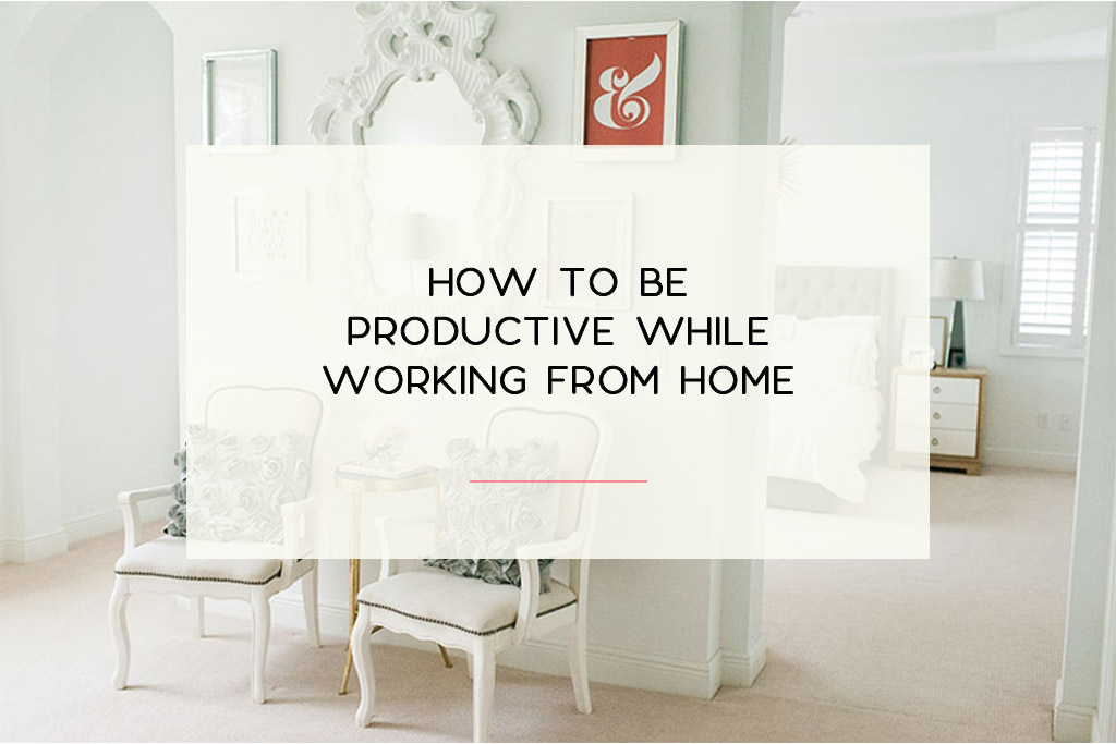 6 Tips on how you can be productive when you're working from home as a new business owner. | Imperfect Concepts #homeoffice #smallbusiness