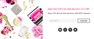 How to style email newsletter opt in for your small business. | Imperfect Concepts