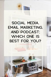 Breaking down which social media platform is best for your small business. | Imperfect Concepts #smallbiz #marketing #socialmedia