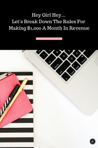 6 Tips On How You Can Reach $1,000 A Month In Revenue Without Gimmicks.
