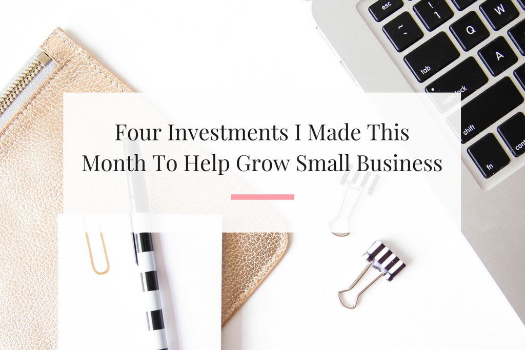 Learn why I invested money into Facebook ads, website themes and more to help grow my small business. | Imperfect Concepts