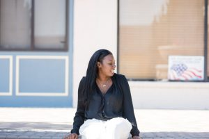 Tasha Robinson Imperfect Concepts | Target Blouse + Valentino Pants + Chanel Shoes